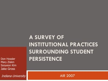 SURROUNDING STUDENT PERSISTENCE