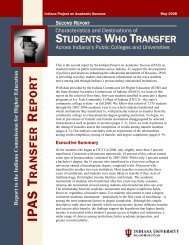 (Second Report). - Project on Academic Success - Indiana University