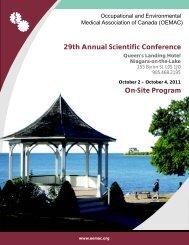 29th Annual Scientific Conference On-Site Program