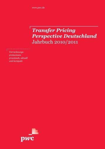 Transfer Pricing Perspective Deutschland Jahrbuch 2010/2011