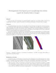 Développement d'un logiciel pour la morphologie des rivi ... - Irstea