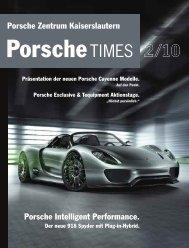 Wir sind für persönliche Sommermärchen zuständig! - Porsche