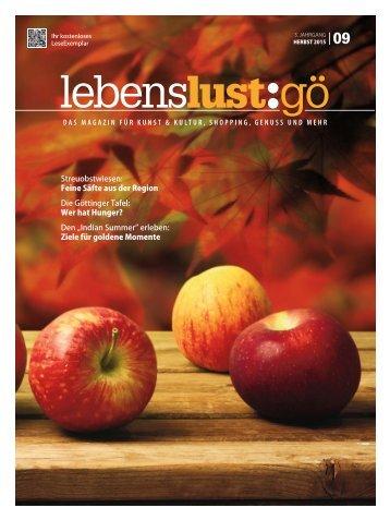 Lebenslust Gottingen -  Ausgabe Herbst 2015