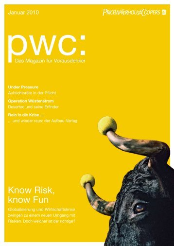 Know Risk, know Fun - PricewaterhouseCoopers AG