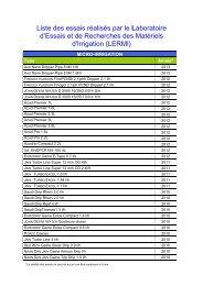 d'Essais et de Recherches des Matériels d'Irrigation (LERMI)