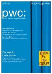 Die Welt in Lieferketten - PricewaterhouseCoopers AG