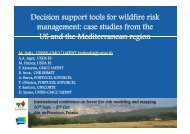 Decision support tools for wildfire risk management - International ...