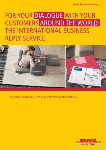 the InteRnatIonal BusIness Reply seRvIce.