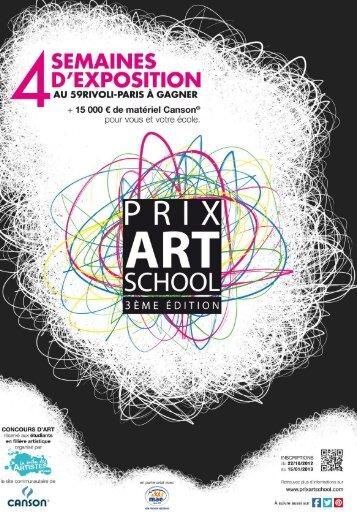 La 3ème édition du Prix Art School a ouvert ses portes !