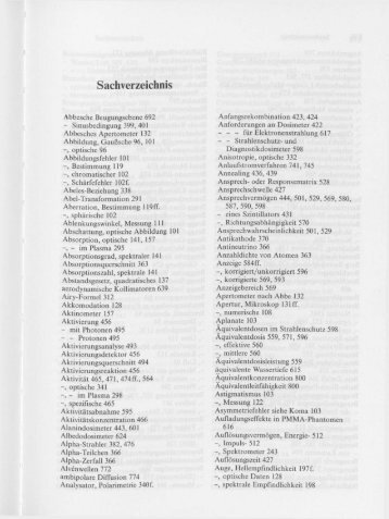 Sachverzeichnis - PTB