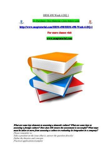 HRM 498 Week 4 DQ 1/snaptutorial