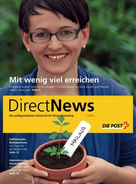 Mit wenig viel erreichen, DirectNews - Die Schweizerische Post