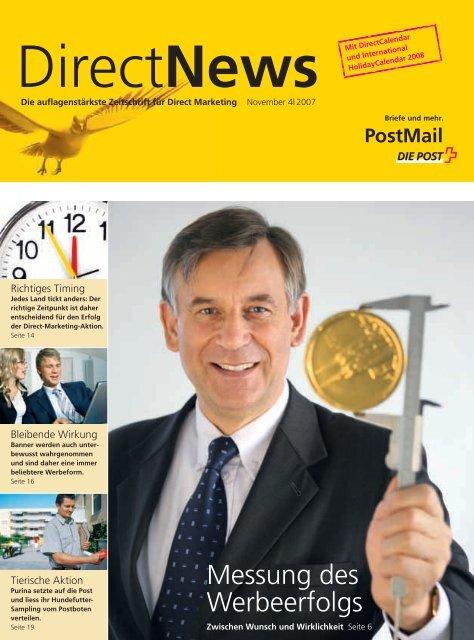 Direct News - November 4/2007 - Die Schweizerische Post