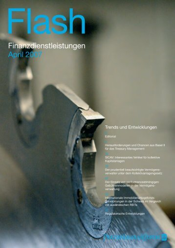 Flash – Finanzdienstleistungen – April 2007 - PwC