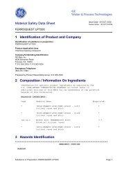 Material Safety Data Sheet - FERROQUEST LP7200