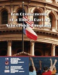 Ten Components of a Title I, Part A Schoolwide Program - Region 16