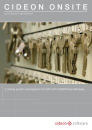 Locking system management for SAP with ... - CIDEON Software