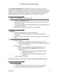 Procedures for a Non-consensus ARD