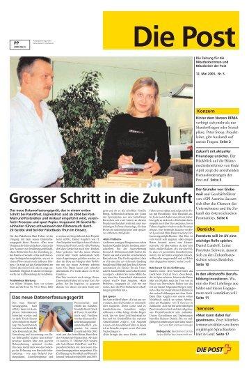 Grosser Schritt in die Zukunft - Die Schweizerische Post