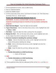 How to Complete the Child Outcomes Summary Form