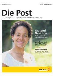 «Die Post» - Personalzeitung - Die Schweizerische Post