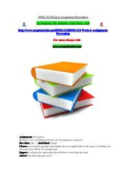 HSM 210 Week 6 Assignment Prevention/snaptutorial