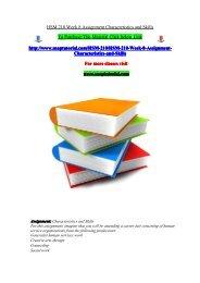 HSM 210 Week 8 Assignment Characteristics and Skills