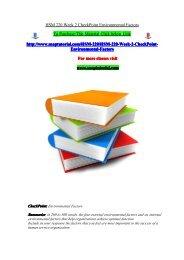 HSM 220 Week 2 CheckPoint Environmental Factors/snaptutorial