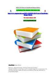 HSM 220 Week 6 CheckPoint Budget Matrix/snaptutorial