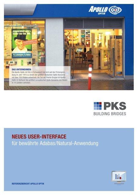 neues user-interface - PKS Software GmbH