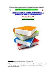 HSM 220 Week 8 Assignment Developing a Performance Appraisal/snaptutorial