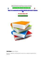 HSM 220 Week 9 Final Project Scenario Solution/snaptutorial
