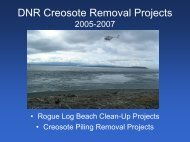 DNR Creosote Removal Projects