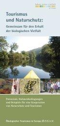 Tourismus und Naturschutz: - Ökologischer Tourismus in Europa eV