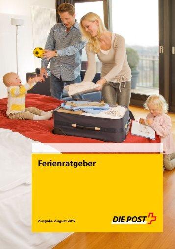 Ferienratgeber - Die Schweizerische Post