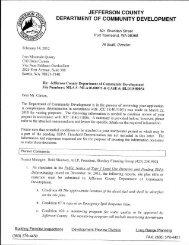 JEFFERSON COUNTY DEPARTMENT OF COMMUNITY DEVELOPMENT