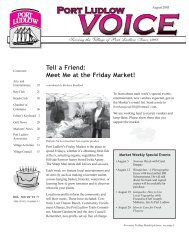 Tell a Friend: Meet Me at the Friday Market! - Port Ludlow Voice ...