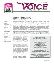Ludlow Fights Quarry - Port Ludlow Voice | Port Ludlow, WA