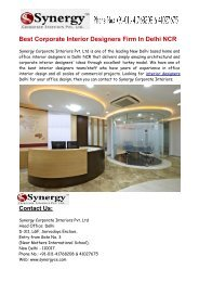 Best Corporate Office Interior Designers in Delhi NCR