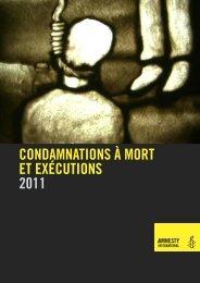 CONDAMNATIONS À MORT ET EXÉCUTIONS 2011