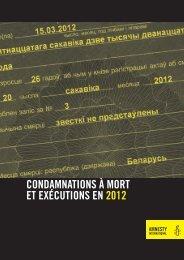 CONDAMNATIONS À MORT ET EXÉCUTIONS EN 2012