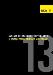 AMNESTY INTERNATIONAL - RAPPORT 2013
