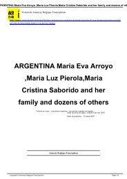 ARGENTINA Maria Eva Arroyo ,Maria Luz Pierola,Maria Cristina ...