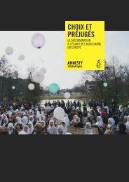 Choix et préjugés rapport complet - Amnesty International France