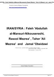 IRAN/SYRIA : Faleh 'Abdullah al-Mansuri-Nikouseresht, Rasool ...