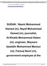 SUDAN : Nazmi Mohammed Hamed (m)
