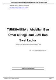TUNISIA/USA : Abdellah Ben Omar al Hajji and Lutfi Ben Swei Lagha