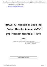 IRAQ : Ali Hassan al-Majid (m) - AMNESTY INTERNATIONAL.be