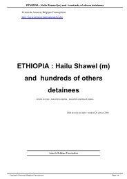 ETHIOPIA  Hailu Shawel (m) and hundreds of others detainees