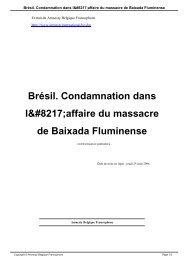 Brésil Condamnation dans l'affaire du massacre de Baixada Fluminense